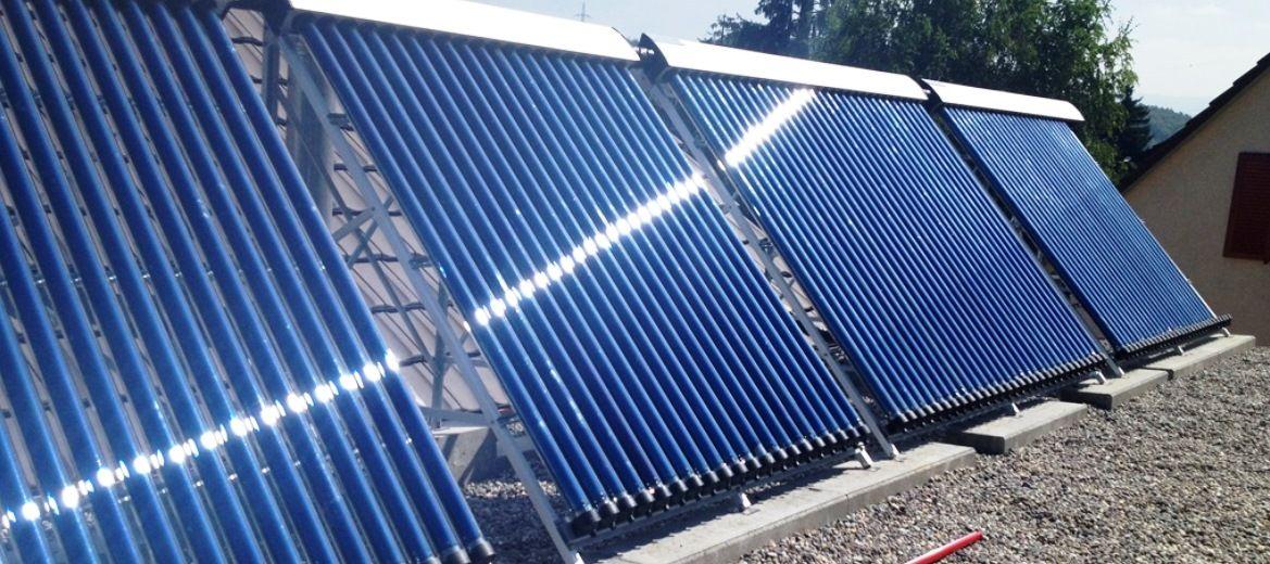 thermische Sonnenkollektoren (nicht Photovoltaik) garantieren höchsten Wirkungsgrad